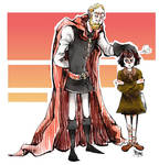 Tywin Lannister and Arya Stark