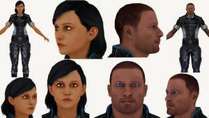Download Sam and Steve (Mass Effect 3) for Blender by ghenson