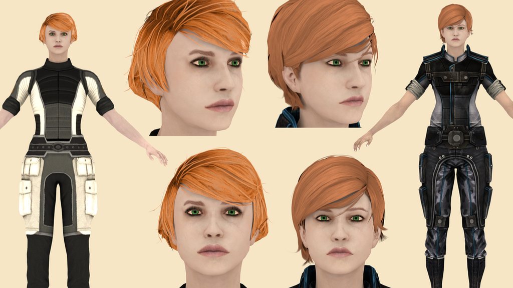 Download Kelly Chambers (Mass Effect) For Blender By