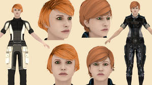 Download Kelly Chambers (Mass Effect) for Blender