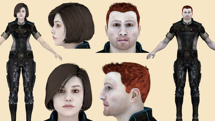 Download Gabby and Ken (Mass Effect 3) for Blender