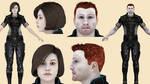 Download Gabby and Ken (Mass Effect 3) for Blender