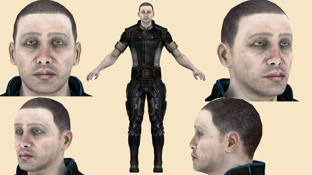 Download Engineer Adams (Mass Effect3) for blender