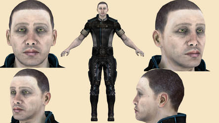 Download Engineer Adams (Mass Effect3) for blender