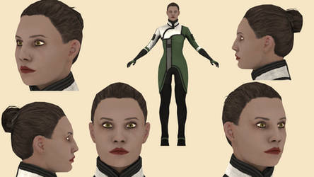 Download Gianna Parasini (MassEffect2) for blender