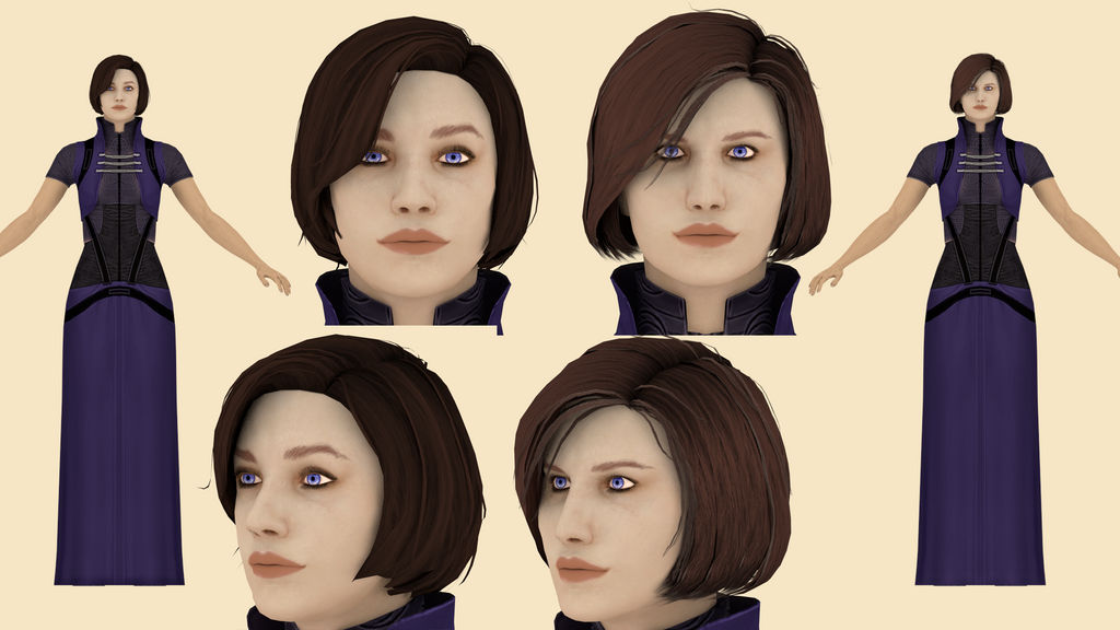 Download Oriana Lawson (Mass Effect) for blender