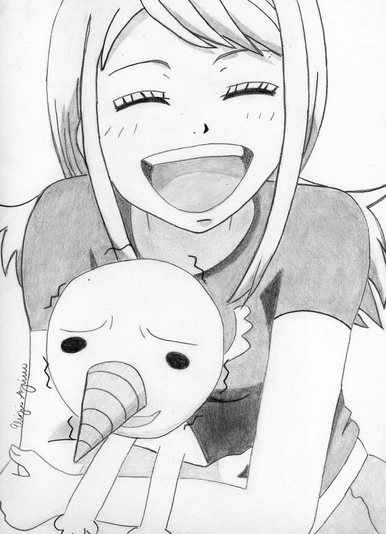 Fairy tail lucy and plue by xxlunabxx on deviantart - Lucy fairy tail drawing ...