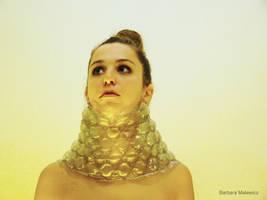 Plastic bubbles collar