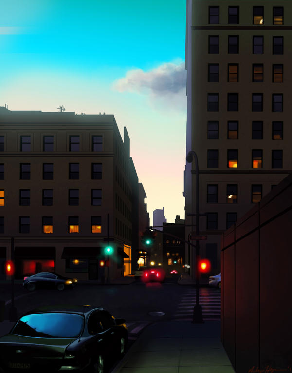 An Evening in the City by napalmzonde