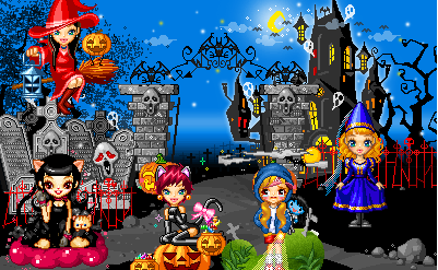 Halloween - Day 16 - Scene of Halloween by CrystalDarkPinkie