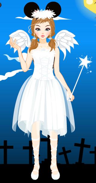Halloween - Day 18 - Minnie Mouse's Little Angel by CrystalDarkPinkie