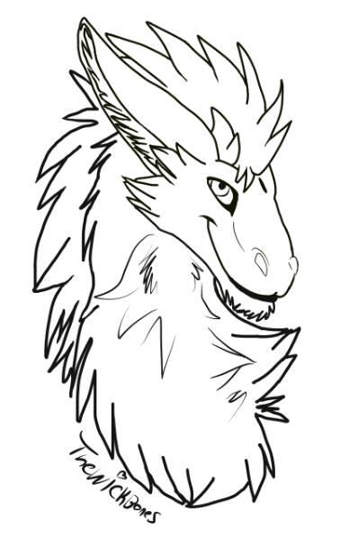 Line Art Creator : Dutch angel dragon free lineart by thewickedbones on