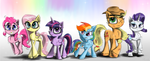 Mane 6 - Different as Night and Day by Chopsticks-Pony