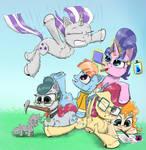 Mom 6 Pony Pile by Chopsticks-Pony