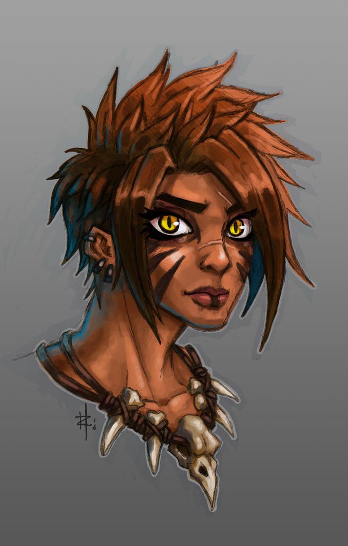 Amazon Warrior Girl by JerryTengu