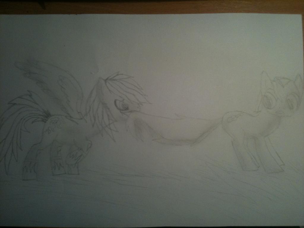 Opus and Lightning pony by Darknesshedgehog112
