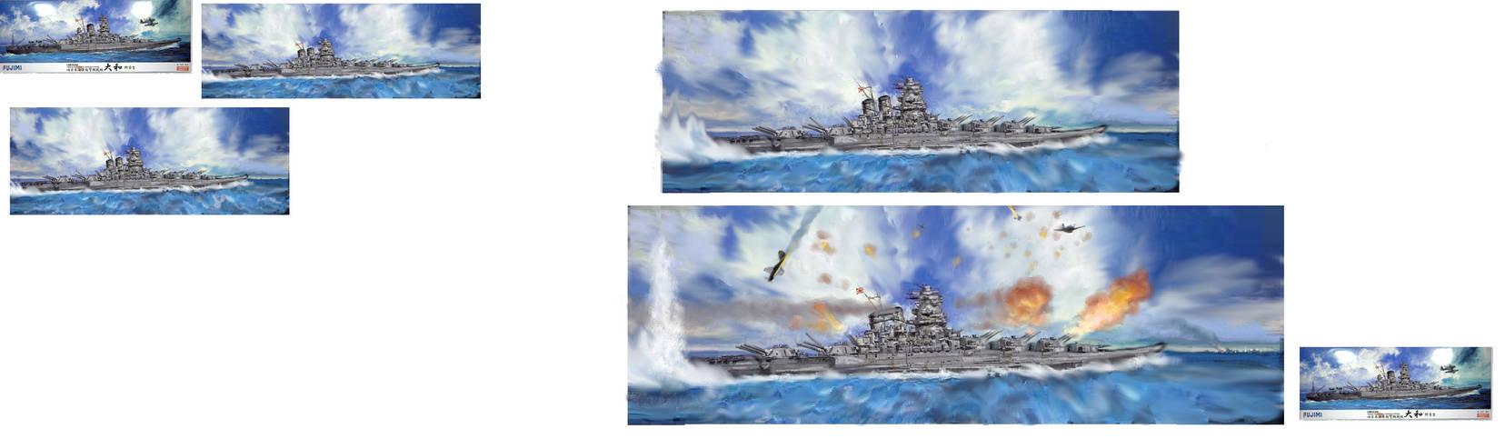 Sketches for Super Yamato
