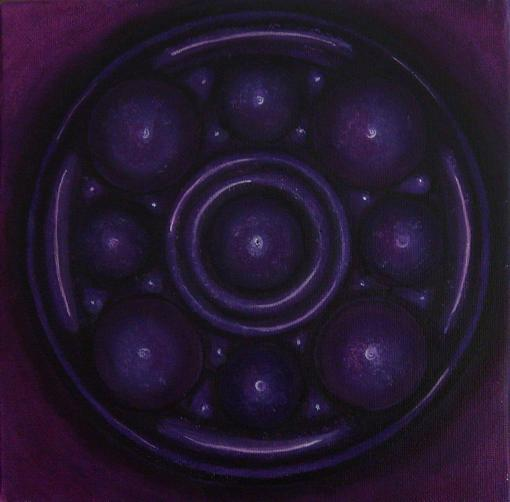 purple mandala by oshuna