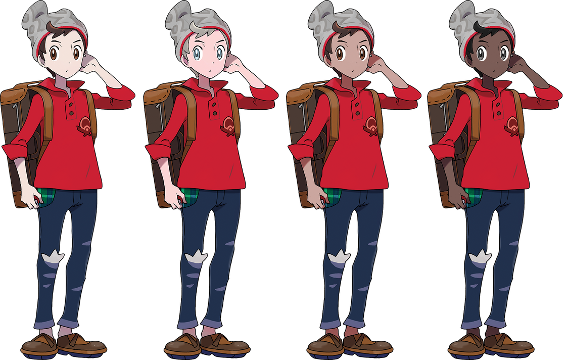 Pokemon Sword And Shield Male Trainer Alts By Sirpeaches On Deviantart