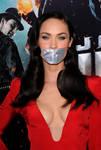 Megan Fox tape gagged