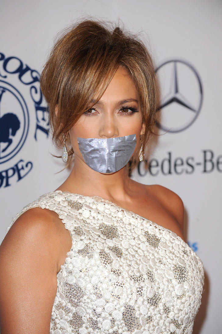 Jennifer Lopez taped up by ikell