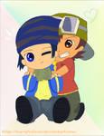 Digimon frontier - Takuya and Kouji