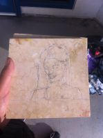Stone Carving  Portrait Of My Cousin By Matt And K