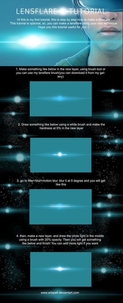 Lens Flare Tutorial by Ardinaryas