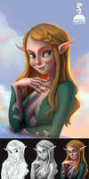 Ambient Occlusion Painting process