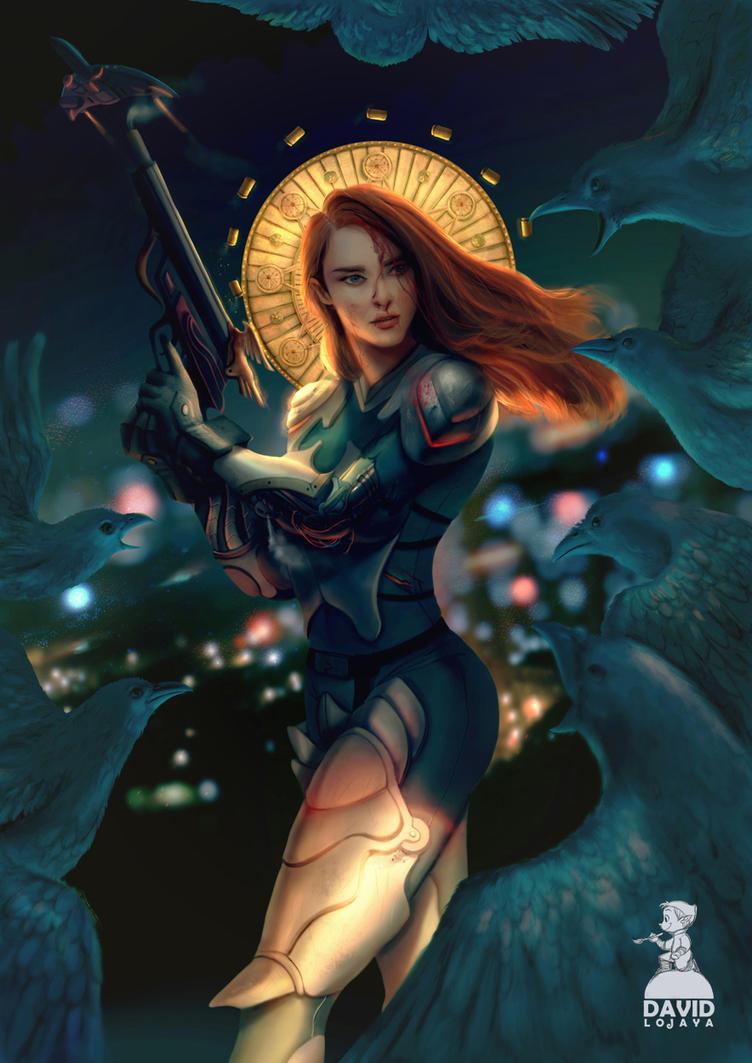 Goddess of War by artspell