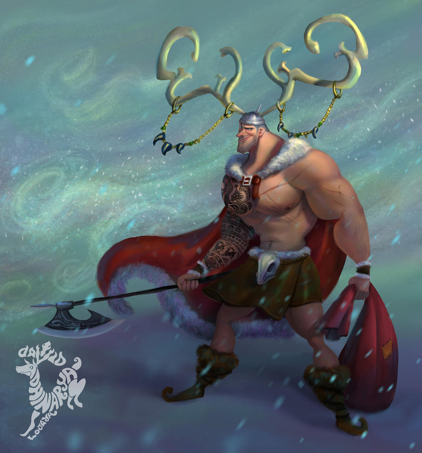 Viking Santa by Ardinaryas