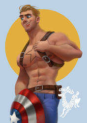 Captain America fan art by Ardinaryas