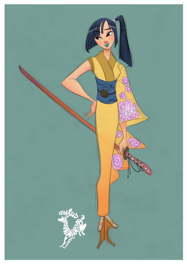 Samurai Girl by DavidAdhinaryaLojaya