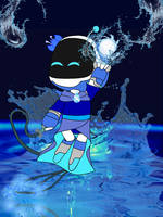 Astro Bot Element Of Water by SandyKim