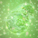 Sparkle Earth Background