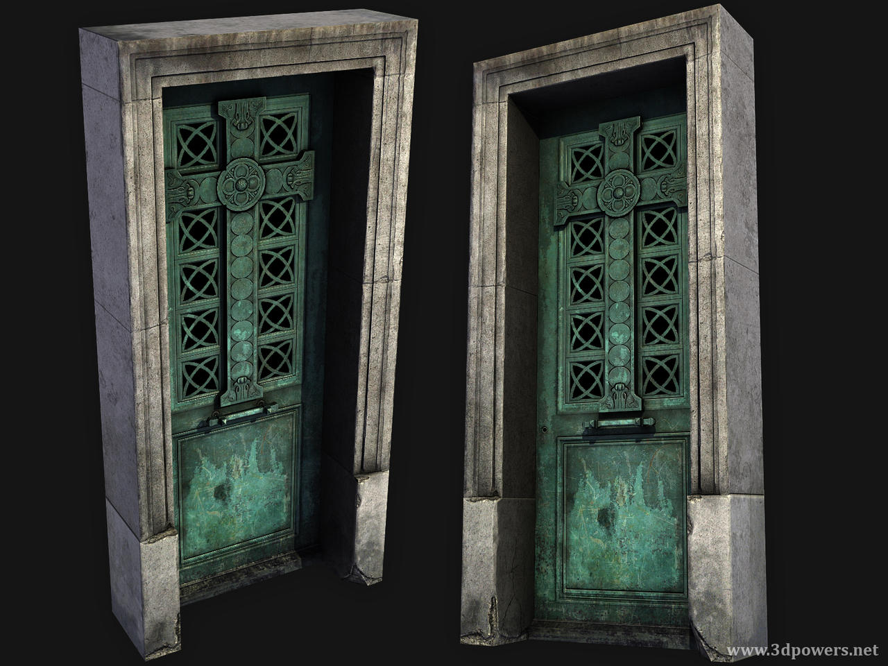 Low Poly Crypt Door By Jpowers On Deviantart