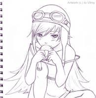 Oshino Shinobu by Vilmy