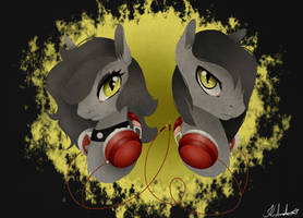 Commission: Nightgaze and Nighteyes by xSnowdropx