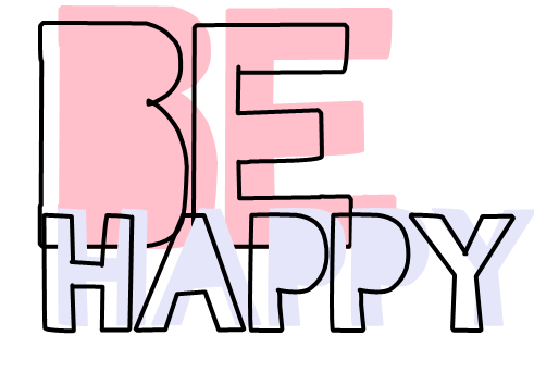 Texto PNG Be Happy by AguustiinaEditions
