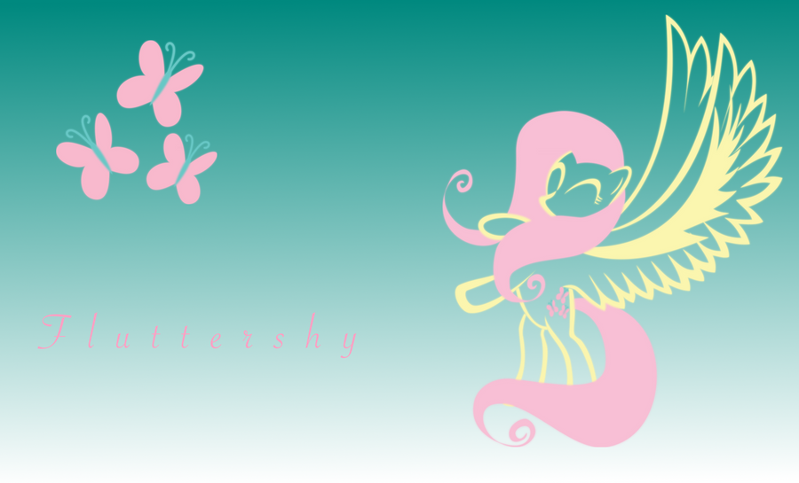 Simplified Fluttershy Wallpaper 1 by sqarishoctagon