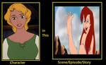 Madeline in Ariel foot scene.
