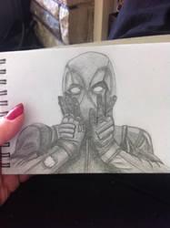 Deadpool In Pencil