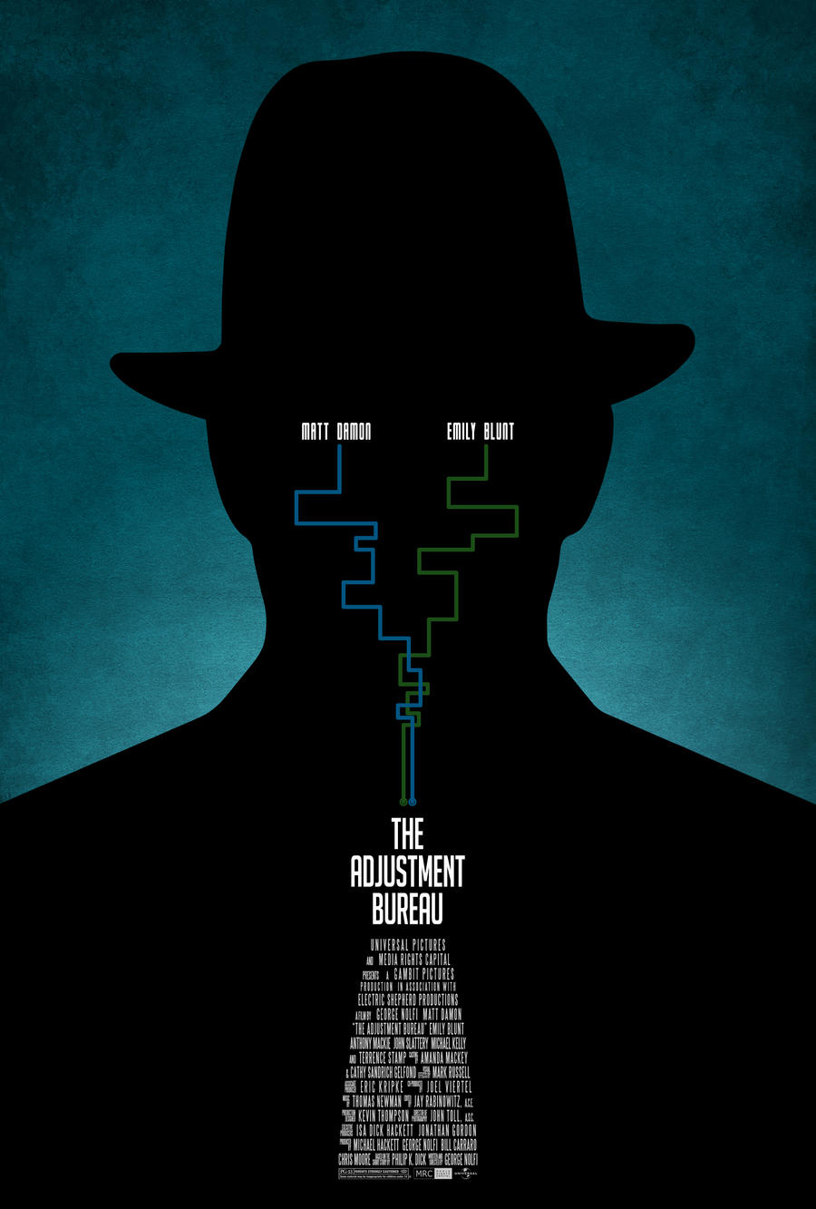 the adjustment bureau poster by drmierzwiak on deviantart. Black Bedroom Furniture Sets. Home Design Ideas
