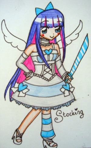 Chibi Angel Stocking by sekaiichihappy