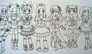 Precure Cosplay Lineart
