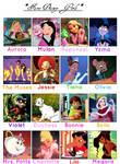 Favorite Disney Girls MEME