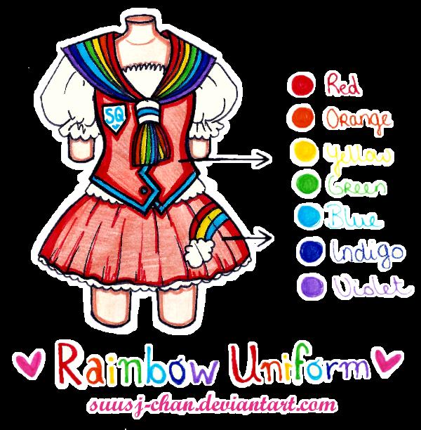 Rainbow Uniform - Sweetie Quartet by sekaiichihappy