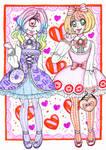 Lolita Joujou and Sucette [ART TRADE] by sekaiichihappy