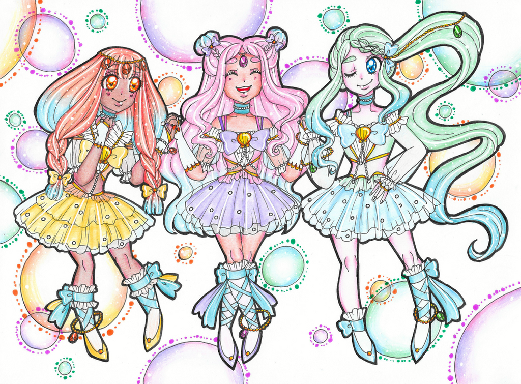 Oceanic Pretty Cure! by sekaiichihappy