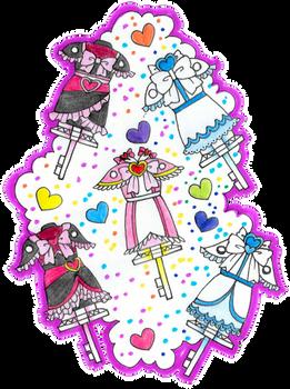 Futari wa Pretty Cure (Max Heart) - Dress Up Keys